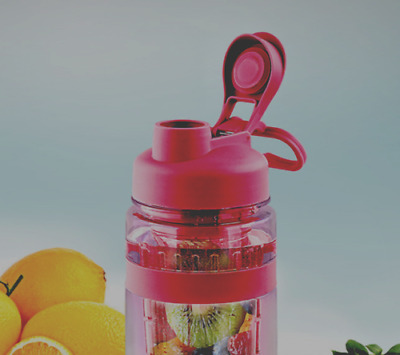 Fruit Infuser Tritan Plastic 32 oz Water Bottle Juice Sport Health Light Red