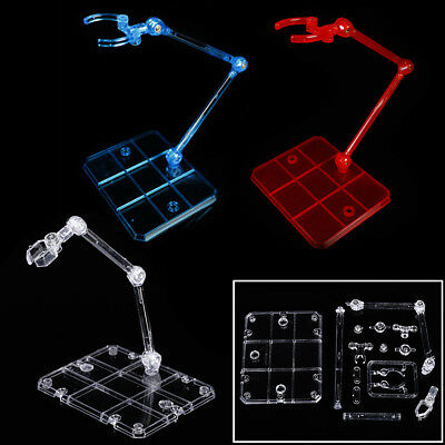 Plastic Action Base Display Stand Support for 1/144 HG/RG Gundam/Figure 3 Colors