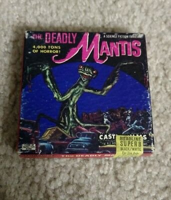 Vintage Castle Films The Deadly Mantis 8mm Film
