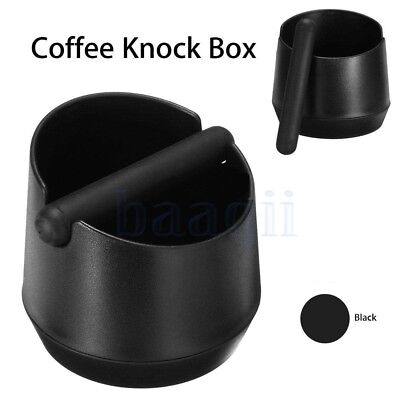 ABS Coffee Knock Box Espresso Grind Waste Residue With Rubber Handlebar Black DA