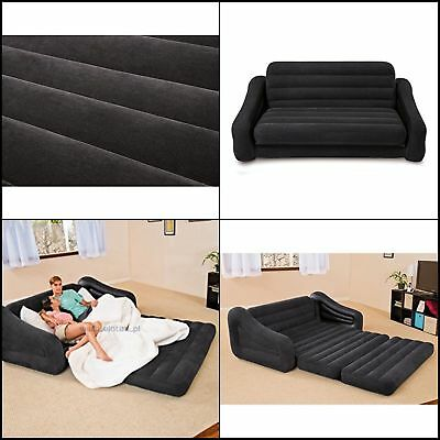 Intex Inflatable Pull Out Sofa Bed 2 Person Air Mattress
