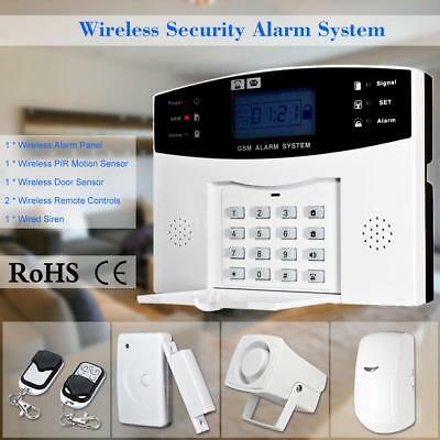 Wireless GSM SMS Einbrecher Sicherheit Alarm System Detektor Sensor Kit L7M9