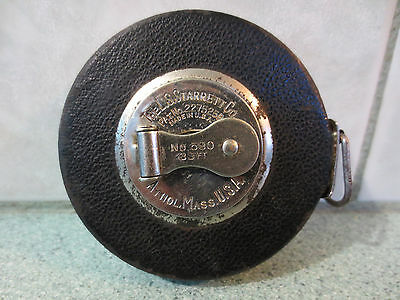 Vintage Starrett metal tape measure No 530 39FT - Made in USA