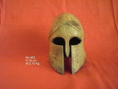 Ancient Greek Spartan Bronze Helmet Museum Replica