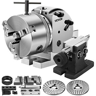 """BS-0 Precision Dividing Head With 5"""" 3-jaw Chuck & Tailstock, part#: BS-0,-new"""