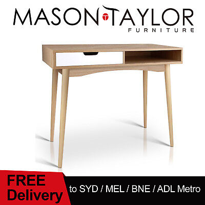 Mason Taylor Wooded Study Desk & Storage Organiser Drawer Computer Laptop Table