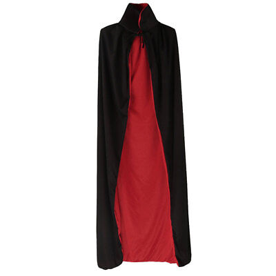 Long Cloak Cape Medieval Costume Pagan Witch Wicca Vampire Robe Fancy Dress SML