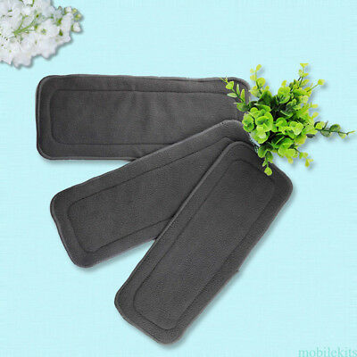 20 Pcs Baby Bamboo Charcoal Cloth Diaper Reusable Washable Liners Insert Nappy