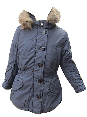 Girls Coat United Colours of Benetton Very Warm Fury Lined Coat Ages 1Y to 14Y