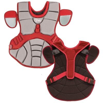 (Grey Red) - TAG Pro Series Womens / Teen Body Protector (TBP 702). Shipping Inc