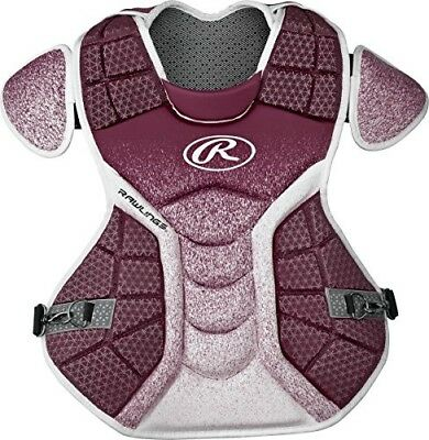 (Maroon/White) - Rawlings Sporting Goods Catchers Chest Protector Velo Series In