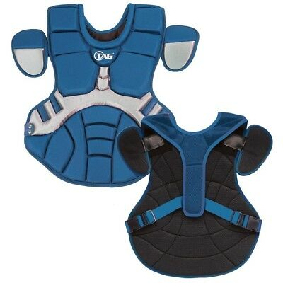 (Blue with Grey) - TAG Pro Series Mens Body Protector (TBP 700). Shipping is Fre