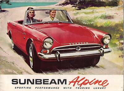 Sunbeam Alpine Series IV 1600 1964-65 UK Market Sales Brochure Sports Tourer GT