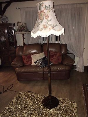 Lovely old solid oak Retro standard lamp