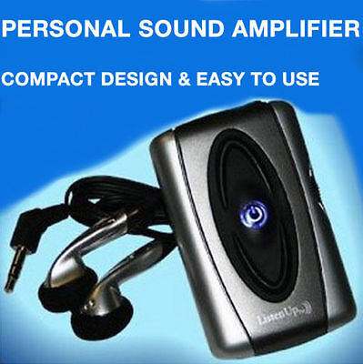 Listen Up Portable Personal Sound Amplifier Compact Easy To Use