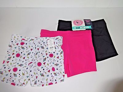 Playground Pals Girls Worry Free Play Shorts 3 Pack By Maidenform Size L 10/12