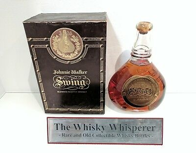 JOHNNIE WALKER 750ml Old Swing with cork top Scotch Whisky bottle In Rare Box