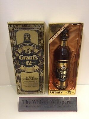 Grants 750ml Very Old Deluxe 12 Year Old blended Scotch Whisky In coffin Box