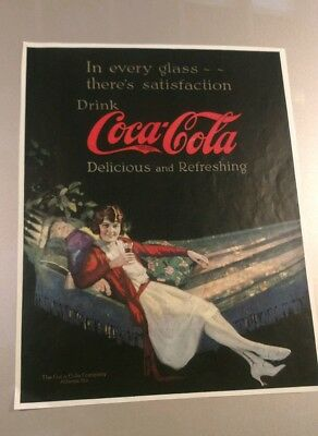 Original 1922 Coca Cola Advertisement..Lady lounging..be nice framed