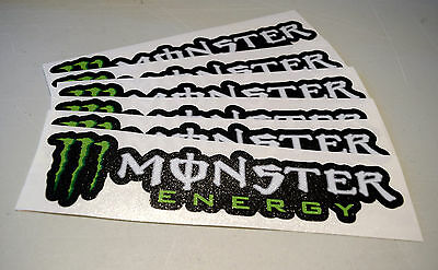 "Monster Energy Sticker Decal Sponsor 8"" By 2"""