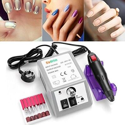 Electric Nail Drill Professional Art Machine Manicure Pedicure 6 Bits Salon Spa