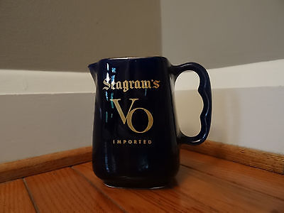 Vintage Seagram's VO Imported Whisky - Water Pitcher - Excellent Condition