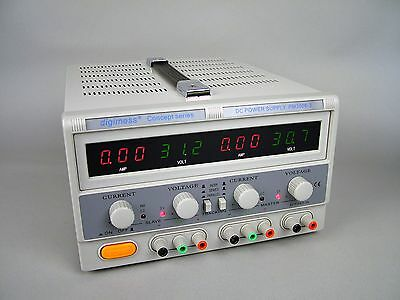 USED digimess PM3006-2 0-30V 6A dual dc power supply led display