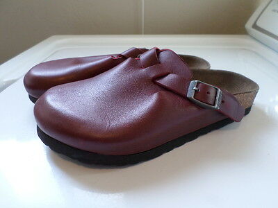 Birkenstock Red Leather Slip On Mules. Size Girl's 32
