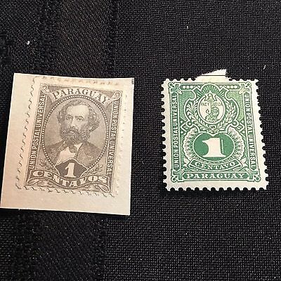 1882-93 Paraguay Postage Stamps Lot of Two Unused