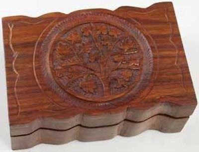 "Tree Of Life Box 4"" X 6"" Wooden"