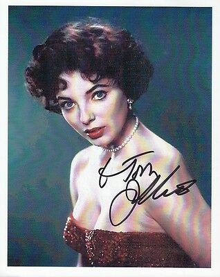"JOAN COLLINS - 7"" x 6"" Colour Print Personally Signed To TOM   F#27"