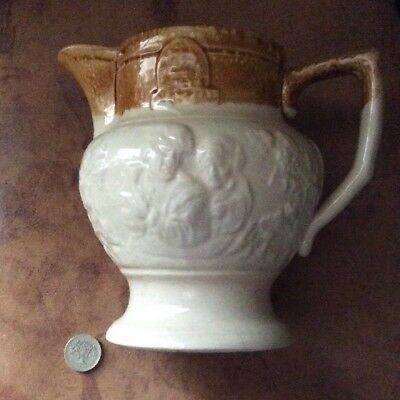 Antique Stoneware 1 Quart Imperial Ale Jug Unknown Factory. Excellent Condition.