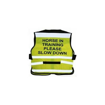 Equisafety Air Waistcoat Horse In Training Please Slow Down - Rider Safety Wear