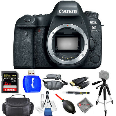 Canon EOS 6D Mark II DSLR Camera (Body Only) - USA Model Pro Bundle Brand New