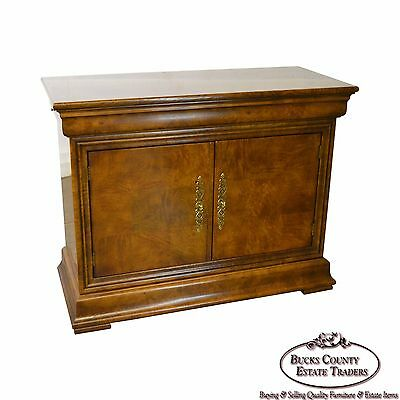 Henredon Burl Wood Charles X Collection 2 Door Server Cabinet