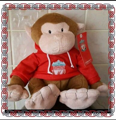 Liverpool Official Marti Monkey Teddy Bear with Hoody Crested Top