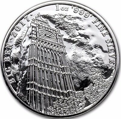 2017 Great Britain 1 oz Silver Landmarks of Britain (Big Ben) 2 Pounds £2