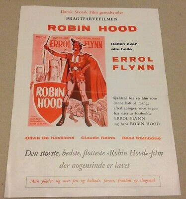 """The Adventures of Robin Hood"" Errol Flynn 1938 Danish Movie Press Release Kit"