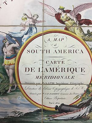 RARE map of South America 1814 published at the beginning South America's Centur