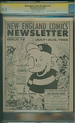 New England Comics Newsletter #14 CGC 9.2 SS Signed by Ben Edlund - 1st The Tick