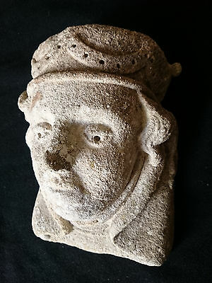 IMPRESSIVE ORIGINAL MEDIEVAL CARVED LIMESTONE SCULPTURE MARY MAGDALENE  c.1400