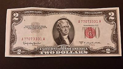 1953-C Red Seal $2 Bill Lot! Free Shipping!