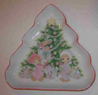 ENESCO PRECIOUS MOMENTS CHRISTMAS TREE CANDY DISH #251151-Made in Japan 1992