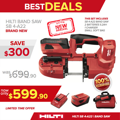 Hilti Sb 4-A22 Cordless Band Saw, New, Complete Set, 2 Bat, Charger, Fast Ship