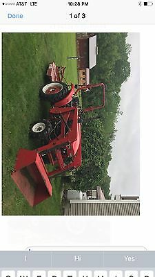compact tractor ,loader cutter, 4wd did run  but leaks oil between trans * motor