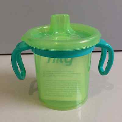 Evenflo TripleFlo Tilty Trainer Sippy Cup Green with Handles BPA-Free
