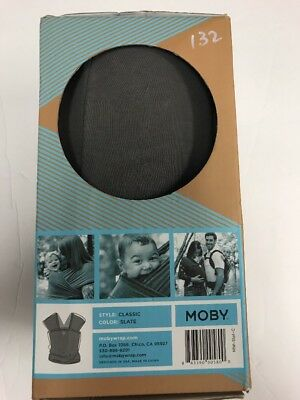 Original Moby Wrap Classic Cotton, Slate, One Size, Free Shipping