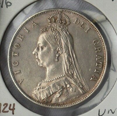 Key date 1892 1/2 Crown (Halfcrown). Queen Victoria, Jubilee bust. S.3924