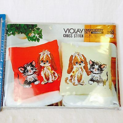 Japanese Puppy And Kitty Crosstitch Kit