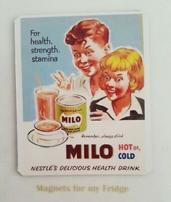 Vintage Nestle` Milo Advertisement Fridge Magnet - M397